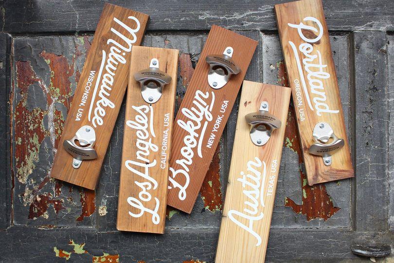 Customizable Reclaimed Wood Bottle Openers