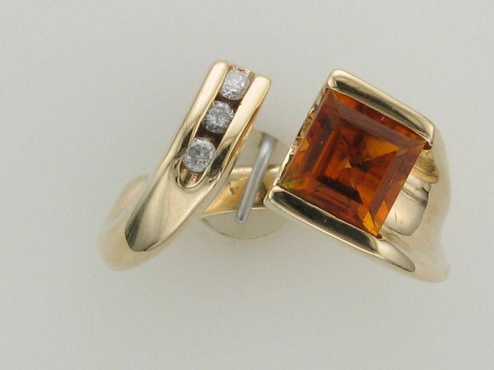 Tmx 1393429488532 14 Ky 1ct Citrine And Diamond Ring  Portage wedding jewelry