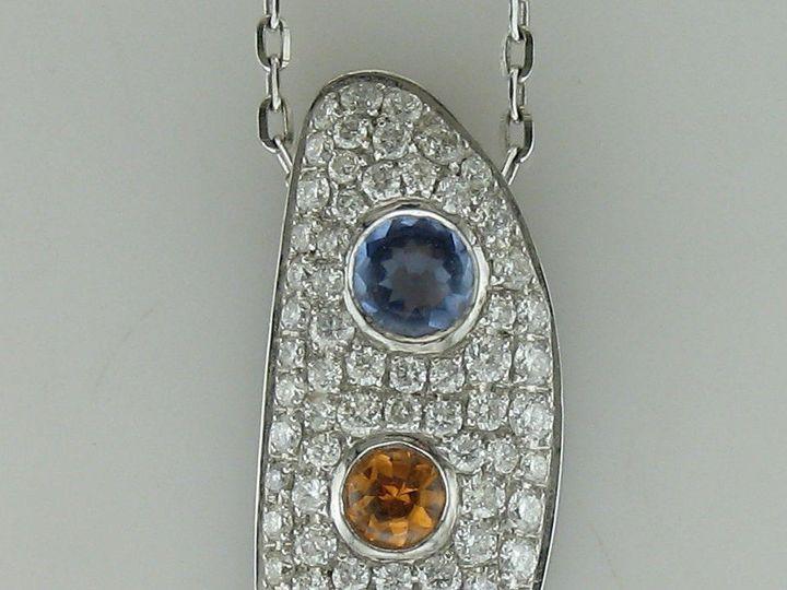 Tmx 1393429603764 18kw .86cw Diamonds With Tanzanite Spessartite And Portage wedding jewelry