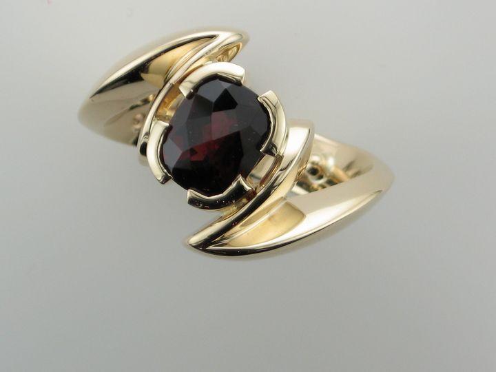 Tmx 1393429703078 Gold Garnet Ring  Portage wedding jewelry