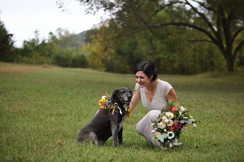 The Bride and her fur baby