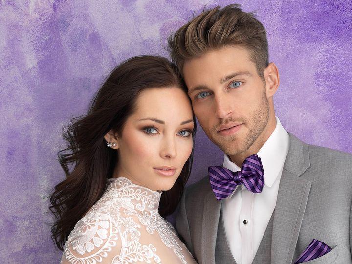 Tmx 262 Allure Heather Grey Purple Striped Bow 19 51 1039985 161247650338108 Vineland, NJ wedding dress