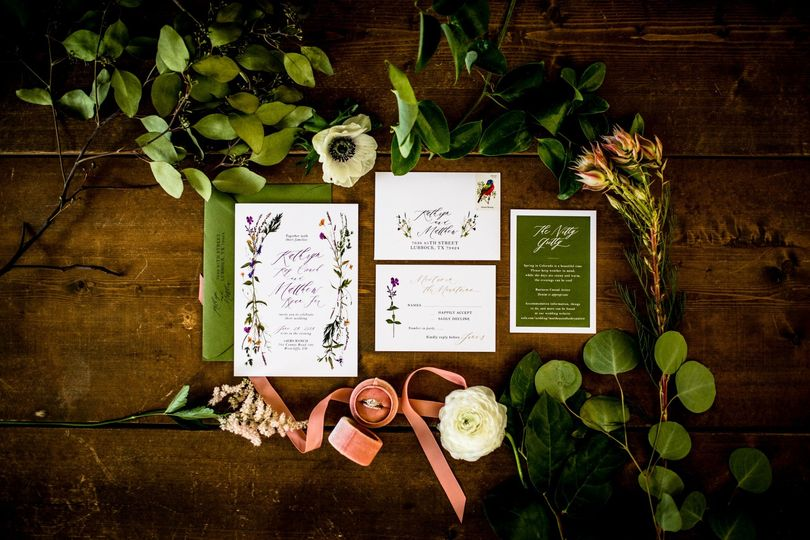 Invitations for wedding on the ranch