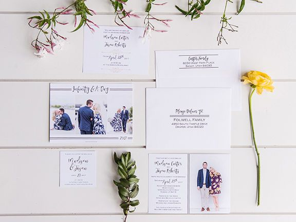 Couple wedding invitation