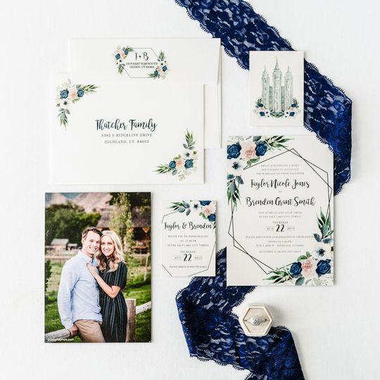 Pretty flowers invite