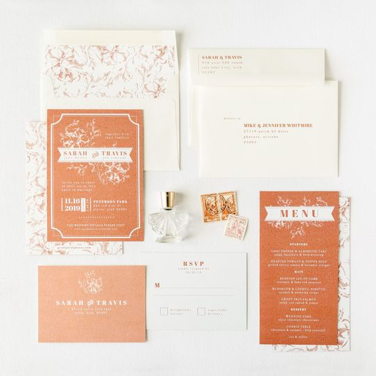 Rusty color stationery