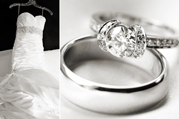 Adorae wedding gown by Sottero and Midgley, rings by Tiffany & Co.