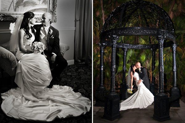 Portraits of Bride and Groom. Venue: Benvenuto Caterestaurant Dress: Adorae gown by Sottero &...