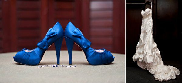 Paris Hilton Shoes and Katarina Style Avant Mariee Winnie Couture Gown.