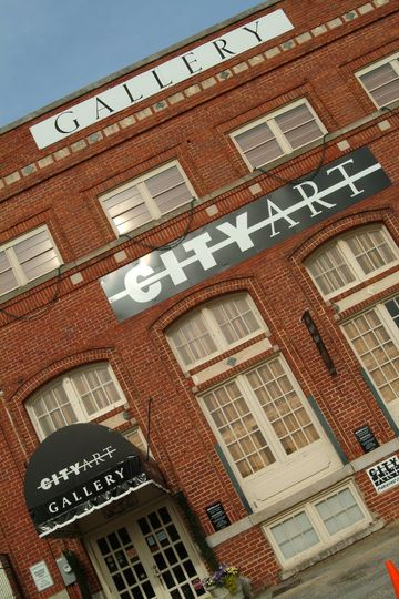 Outside view of City Art's historic building in the Congaree Vista!