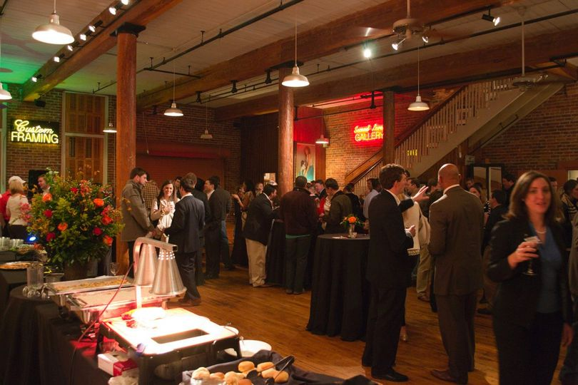 Guests enjoying a reception held at City Art