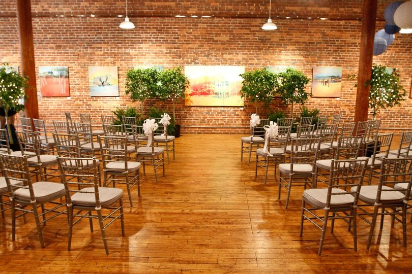 Possible setup for a beautiful ceremony at City Art. This wedding belonged to a family member of...