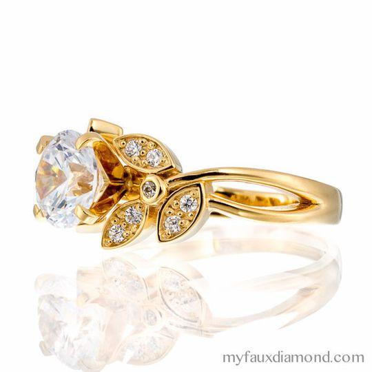 cubic zirconia engagement ring my faux diamond sr2