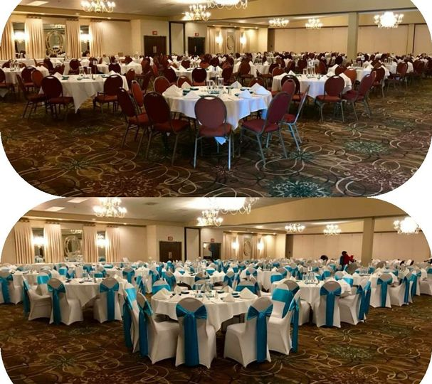 Before and after chair covers