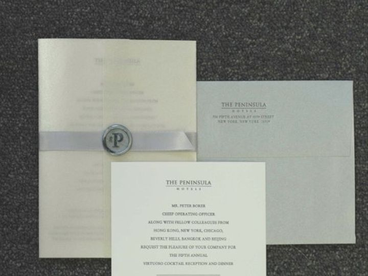 Tmx 1199405334191 Peninsulainvitation New York wedding invitation