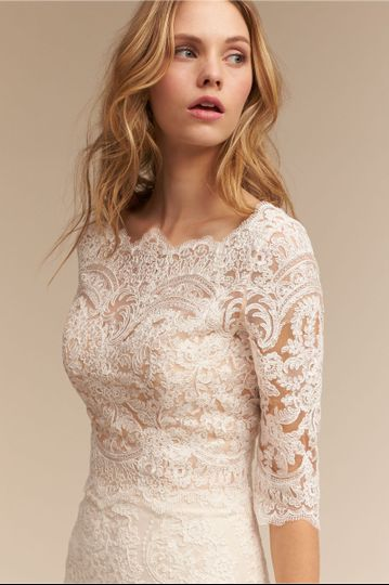 BHLDN Capri Top		Dazzle in this lace top, worn over a skirt or as a cover up to a sleek gown. We've...