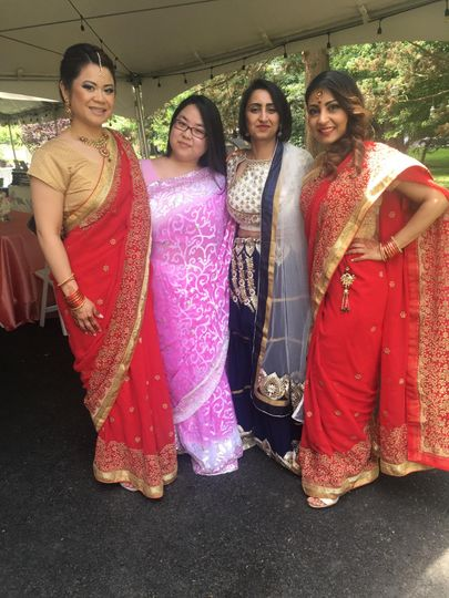 Beautiful Bridesmaids in Saris