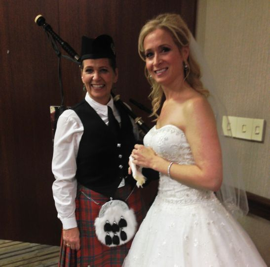 Michigan Wedding Bagpiper at Westin Hotel in Southfield