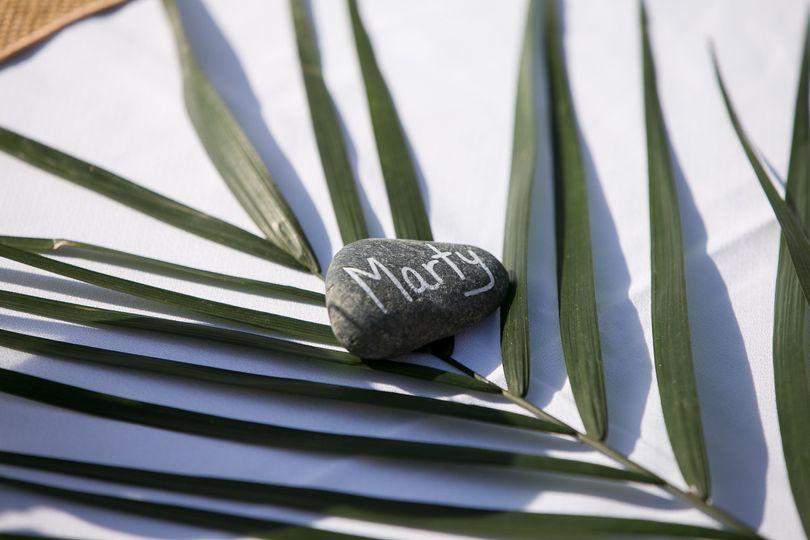 Stone name plate