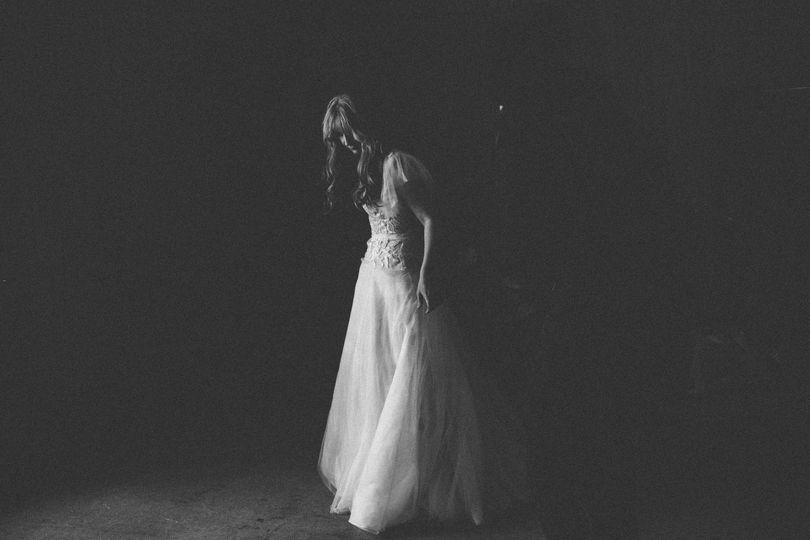 Black and white spotlight
