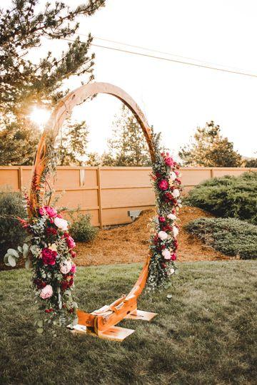 Ceremony floral arch details