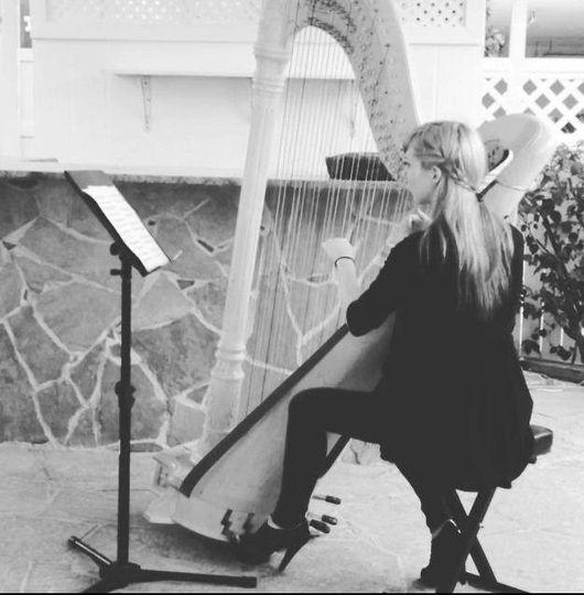 Outdoor harp performance