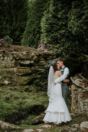 Kissing couple Thanks to Kim Spins Photography
