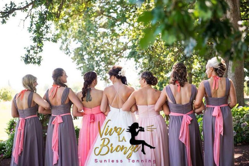 Gowns of the bridal party