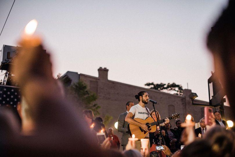 A vigil performance