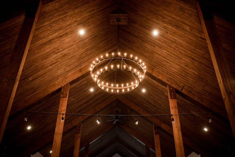 Chandelier at the barn