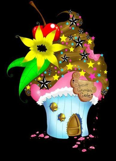 Sweet Crumbs Cafe Logo (Blk)