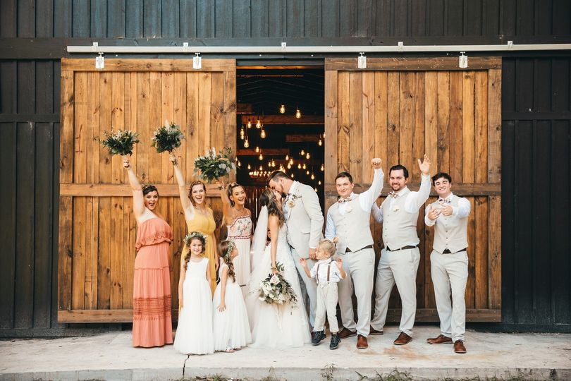 Barn Doors + Edison Bulbs