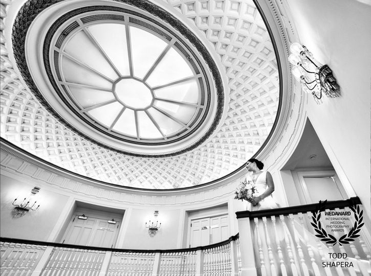Bride in the Tappan Hill Mansion Rotunda