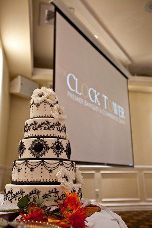LCD Projector and cake by our inhouse pastry chef.
