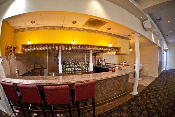 Beautiful granite bar, inside ballroom.