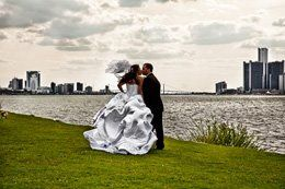 River Front wedding, Detroit MI