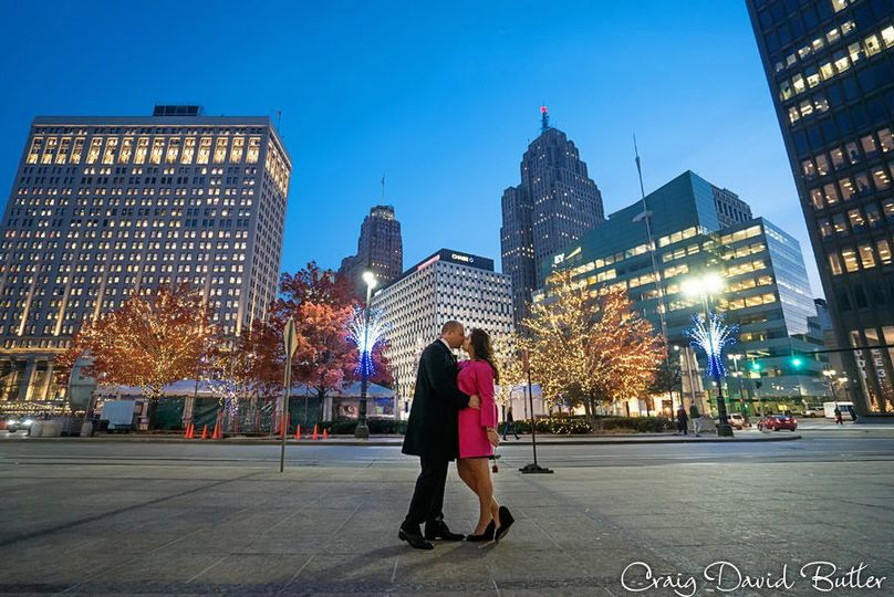 Detroit Engagement at Campus Martius