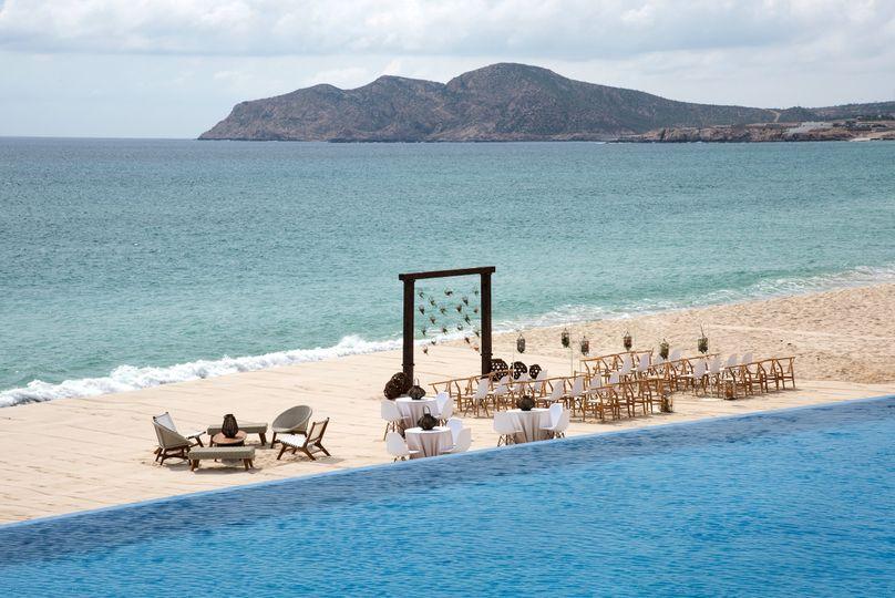 le blanc spa resort los cabos blanc beach ceremony setup 51 792195