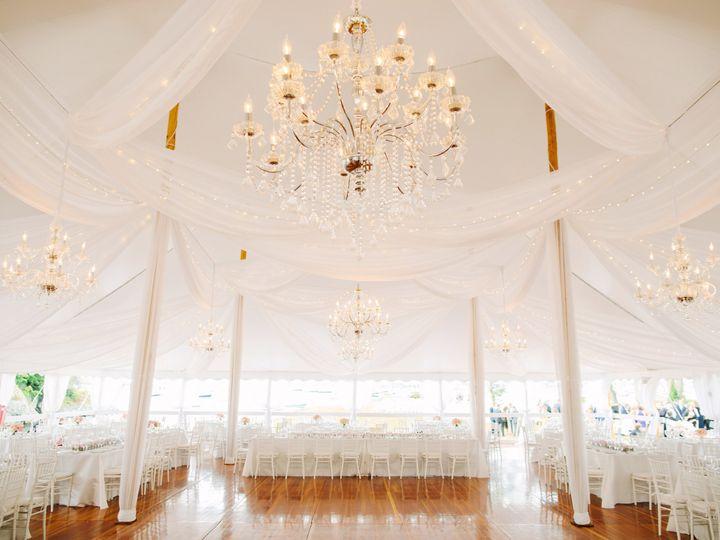 Tmx Chrome Crystal Chandelier White Fabric Swag Center Pole 51 133195 Narragansett, RI wedding eventproduction