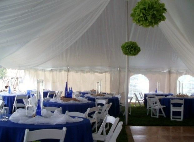Creaing a beach themed event for our clients that were married on an island!