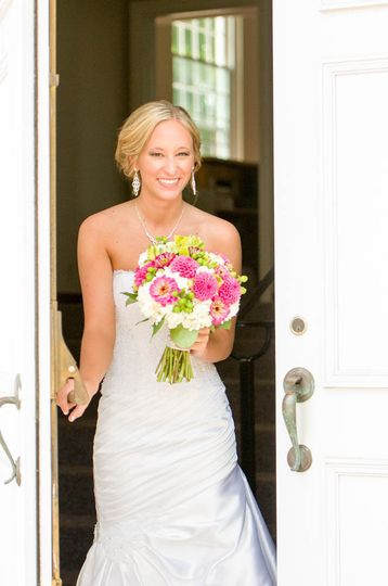 Newly wed bride