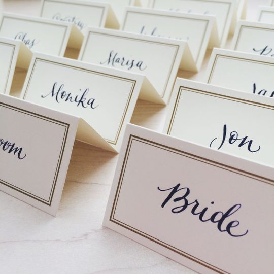 Custom Calligraphy - Handlettered Placecards
