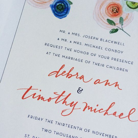 Custom Invitations Design and Calligraphy