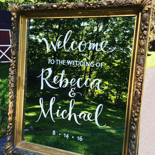 Custom Calligraphy - Handlettered Wedding Welcome Sign