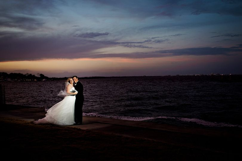 Newlywed couple by the sea | Photo credit: Pure Sugar Studios