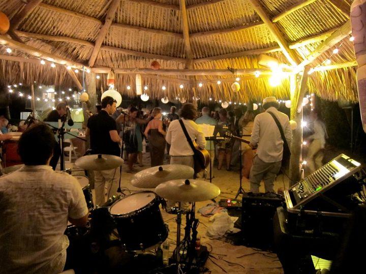 Wedding in Islamorada under a Tiki hut