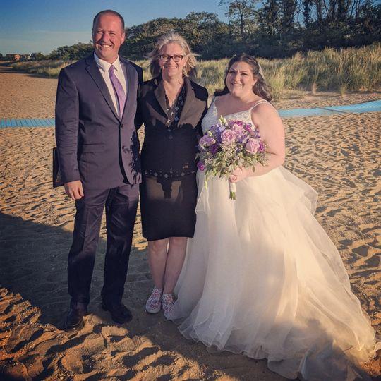 Beach mini-wedding