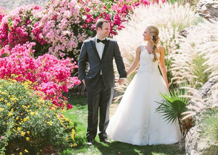 spring wedding at the odonnell house palm springs