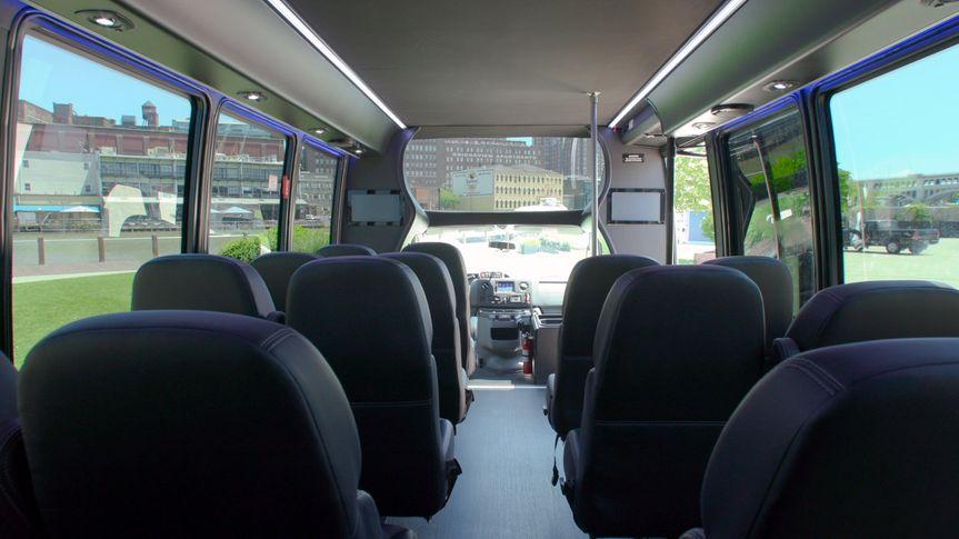 Wedding shuttle interior 3