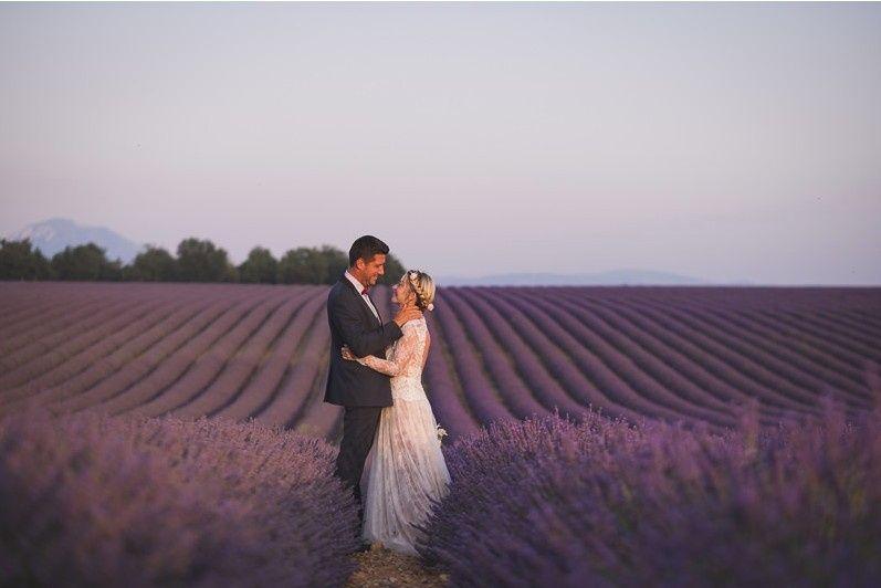 Provence lavender Elopement